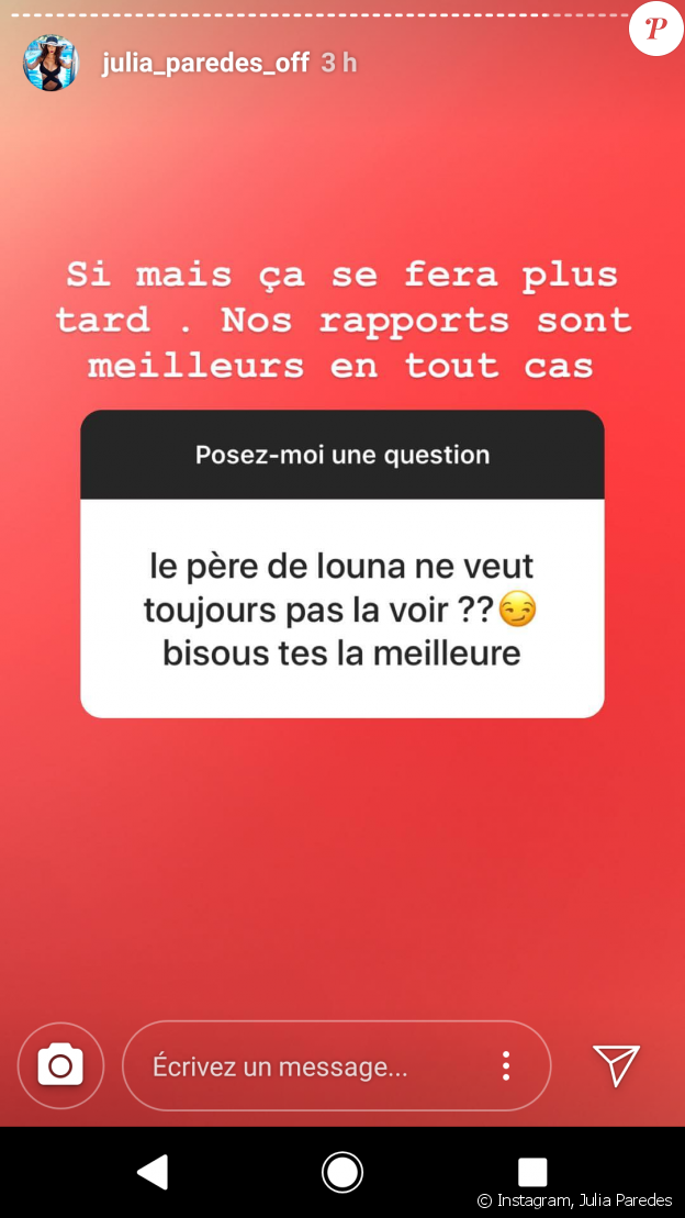 Julia Paredes - Instagram, 23 juillet 2018