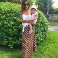Julia Paredes et sa fille Luna - Instagram, 14 juillet 2018