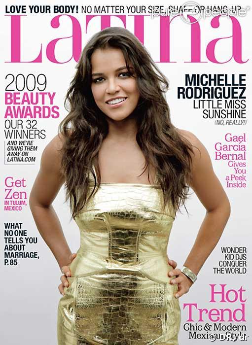 Michelle Rodriguez en couverture du magazine  Latina  pour le mois de mai !