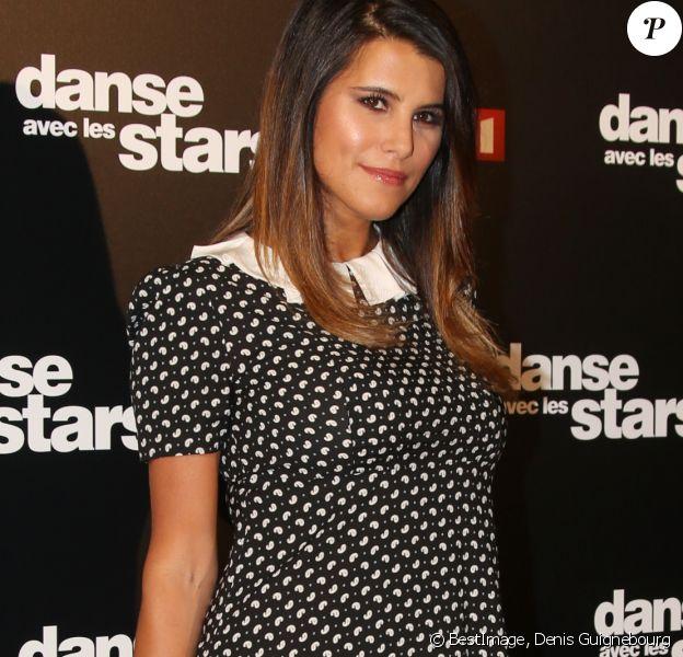 """Karine Ferri au photocall de l'émission """"Danse Avec Les Stars - Saison 7"""" à Boulogne-Billancourt, le 28 septembre 2016. © Denis Guignebourg/Bestimage"""