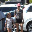 Exclusif - Alessandra Ambrosio a été aperçue avec sa fille Anja dans les rues de Los Angeles, le 29 juillet 2018.