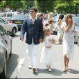 Marc Lavoine (ici avec sa femme Sarah et leur fille Yasmine) : sur son nouvel album, à paraître le 7 septembre 2009, figurera un duo avec sa fille Yasmine, 10 ans.