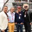 Jean Alesi, Jacky Ickx, Niki Lauda et Flavio Briatore au 76e Grand Prix de Formule 1 de Monaco le 27 mai 2018. © Bruno Bebert/Bestimage