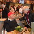 Niki Lauda et Bernie Ecclestone lors de la 78e course du Hahnenkamm à Kitzbuhel en Autriche le 20 janvier 2018.