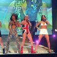 Les Spice Girls aux BRIT Awards à Londres. Février 1997.