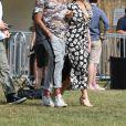 Exclusif - Emma Bunton et son compagnon Jade Jones au House Festival à Londres, le 6 juillet 2018.