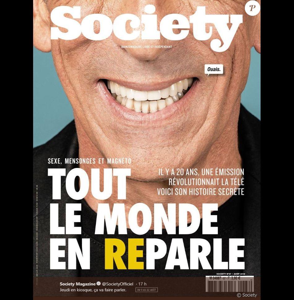 """Couverture du nouveau numéro du magazine """"Society"""" - 9 août 2018"""