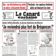 """Couverture du """"Canard enchaîné"""" du 8 août 2018."""