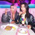 Kourtney et Kim Kardashian. Août 2018.