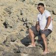 Exclusif - Ronaldo passe ses vacances à Formentera en Espagne le 21 juillet 2018.