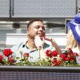 L'ex footballeur brésilien Ronaldo lors du Masters Series de tennis de Madrid le 9 mai 2018.