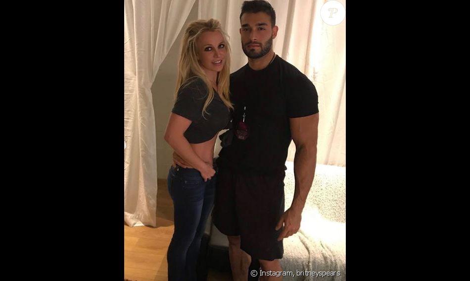 Britney Spears et son chéri Sam, en Belgique, le 15 août 2018