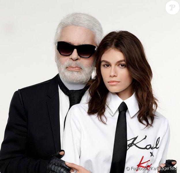 Karl Lagerfeld et Kaia Gerber lancent une collection de vêtements disponible à partir du 30 août 2018.