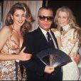 Cindy Crawford, Karl Lagerfeld et Claudia Schiffer à Paris. Janvier 1993.