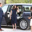 Meghan Markle arrive avec sa mère Doria Ragland à l'hôtel Cliveden House près de Windsor à la veille de son mariage avec le prince Harry, à Taplow le 18 mai 2018.