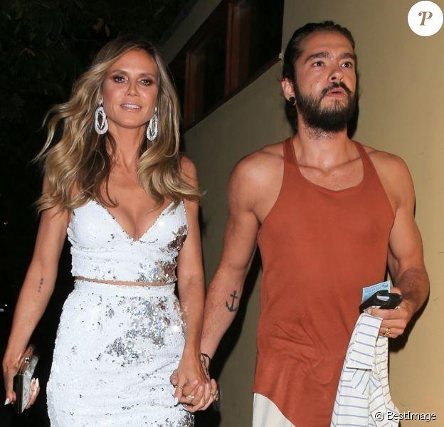 Heidi Klum et son compagnon Tom Kaulitz sont allés à la soirée en l'honneur de S. Cowell pour célébrer son étoile sur le Walk of Fame à West Hollywood, le 22 août 2018.