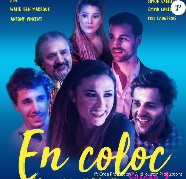 """L'affiche officielle de la saison 2 d'""""En Coloc"""", la web-série de Capucine Anav."""