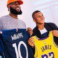 Kylian Mbappé a rencontré LeBron James à Paris le 30 août 2018.