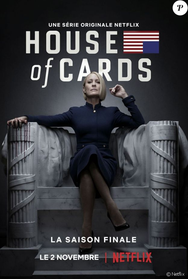 "Robin Wright dans la saison 6 de ""House of Cards"", disponible le 2 novembre 2018 au Netflix."