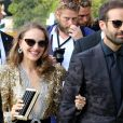 Natalie Portman et son mari Benjamin Millepied arrivent à l'hôtel Excelsior lors du 75ème festival du film de Venise, la Mostra, le 4 septembre 2018