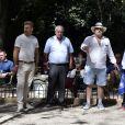 Exclusif - Marcel Campion, Eric Sanchez - Tournoi de pétanque des Toques Blanches Internationales au Jardin du Luxembourg à Paris le 10 septembre 2018.