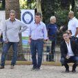 Exclusif - Jean-Jacques Bourdin, Christian Constant - Tournoi de pétanque des Toques Blanches Internationales au Jardin du Luxembourg à Paris le 10 septembre 2018.
