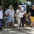 Exclusif - Marcel Campion, Jean-Marie Bigard - Tournoi de pétanque des Toques Blanches Internationales au Jardin du Luxembourg à Paris le 10 septembre 2018.