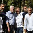 Exclusif - Luis Fernandez, Patrice Laffont - Tournoi de pétanque des Toques Blanches Internationales au Jardin du Luxembourg à Paris le 10 septembre 2018