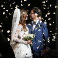 Mariage de Thomas Hollande et de la journaliste Emilie Broussouloux l'église de Meyssac en Corrèze. Le 8 Septembre 2018. © Patrick Bernard-Guillaume Collet / Bestimage