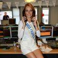 Maëva Coucke (Miss France 2018) lors de la 14e édition du Charity Day dans la salle des marchés de la société de courtage Aurel BGC au profit des 7 associations participantes à Paris, le 11 septembre 2018. © Veeren/Bestimage