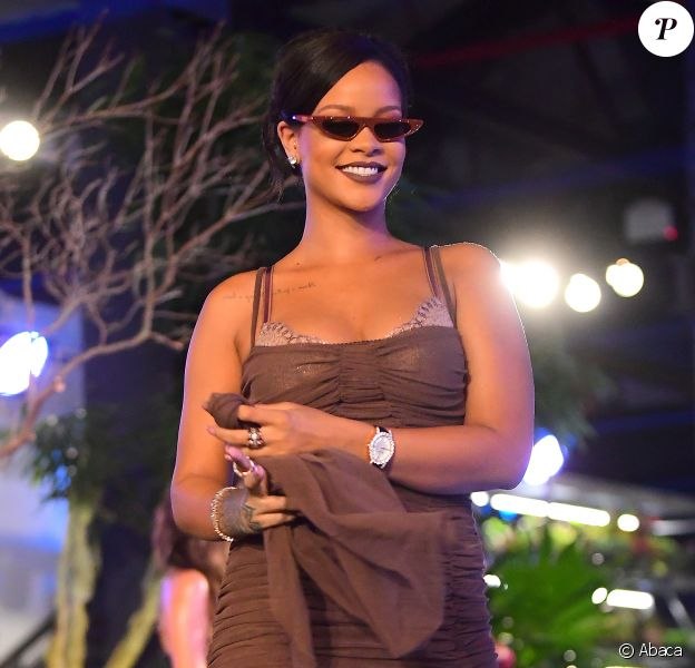 Rihanna à son défilé Savage X Fenty Lingerie à New York, le 12 septembre 2018.