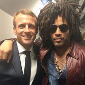 Emmanuel Macron croise Lenny Kravitz (très à l'aise) au concert de U2
