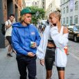 Justin Bieber et sa fiancée Hailey Baldwin sont allés faire du shopping chez Empire Stores avant d'aller diner en amoureux à New York, le 12 juillet 2018