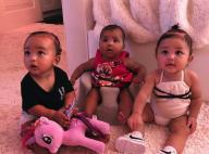 """Kim Kardashian : Photo trop craquante des """"triplées"""" Chicago, True et Stormi"""