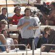 """Guillaume Canet sur le tournage du film """"Les petits mouchoirs"""" sorti en 2010."""