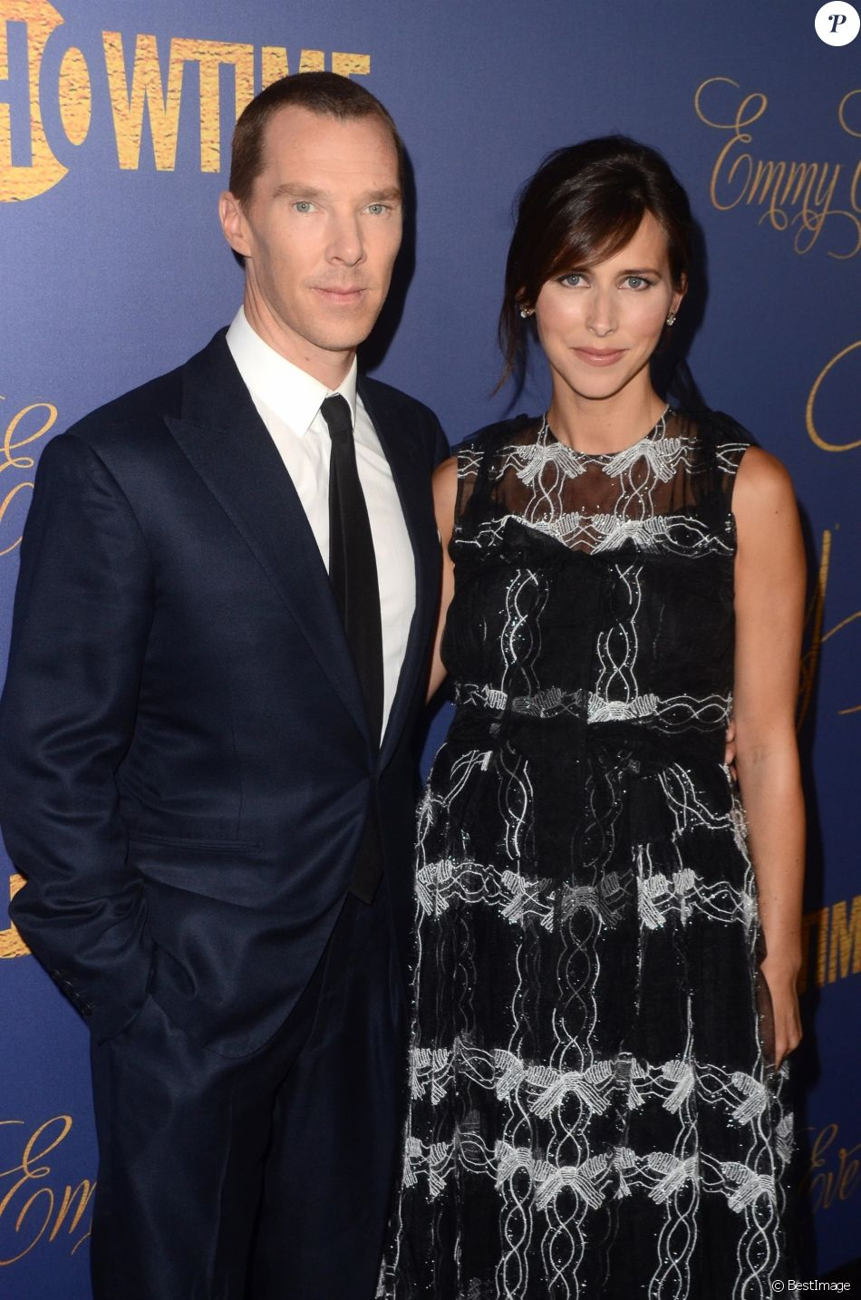 """Benedict Cumberbatch et sa femme Sophie Hunter - Les célébrités posent lors de la soirée """"Showtime Emmy Eve Party"""" au Chateau Marmont à West Hollywood le 16 Septembre 2018."""