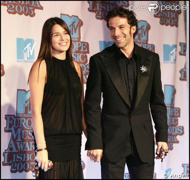 Alessandro Del Piero et sa femme Sonia Amoruso
