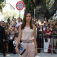 Alessandra Ambrosio au défilé Giorgio Armani lors de la Collection Prêt-à-Porter Printemps/Eté 2019 pendant Fashion Week de Milan, Italie, le 23 septembre 2018.