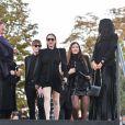 """Salma Hayek, François-Henri Pinault et Lindsay Lohan - Défilé de mode """"Saint-Laurent"""" PAP printemps-été 2019 au Trocadéro devant la Tour Eiffel à Paris le 25 septembre 2018"""