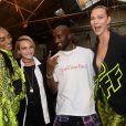 Jourdan Dunn, Cara Delevingne, Virgil Abloh (fondateur et designer de Off White) et Karlie Kloss - Coulisses du défilé Off-White™ collection prêt-à-porter printemps-été 2019 lors de la Fashion Week de Paris, le 27 septembre 2018. © Ramsamy Veeren/Bestimage