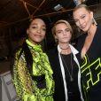 Jourdan Dunn, Cara Delevingne et Karlie Kloss - Coulisses du défilé Off-White™ collection prêt-à-porter printemps-été 2019 lors de la Fashion Week de Paris, le 27 septembre 2018. © Ramsamy Veeren/Bestimage