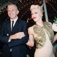 Jean Paul Gaultier et Madonna - défilé au musée de la fête foraine le 12 octobre 1994.