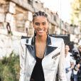 Cindy Bruna - Les people quittent le défilé l'Oréal Paris 2018 sur la Seine le 30 septembre 2018.