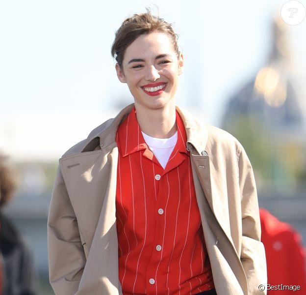 Louise Bourgoin - Défilé L'Oréal Paris 2018 sur la Seine le 30 septembre 2018. © Cyril Moreau / Olivier Borde / Bestimage