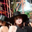 """Semi-Exclusif - Lindsay Lohan à la soirée """"White Coffee Party"""", avec aux platines, Virgil Abloh (fondateur et designer de Off White) et Black Coffee, au club """"The Key"""" lors de la Fashion Week de Paris (PFW), le 27 septembre 2018. © Veeren/CVS/Bestimage"""