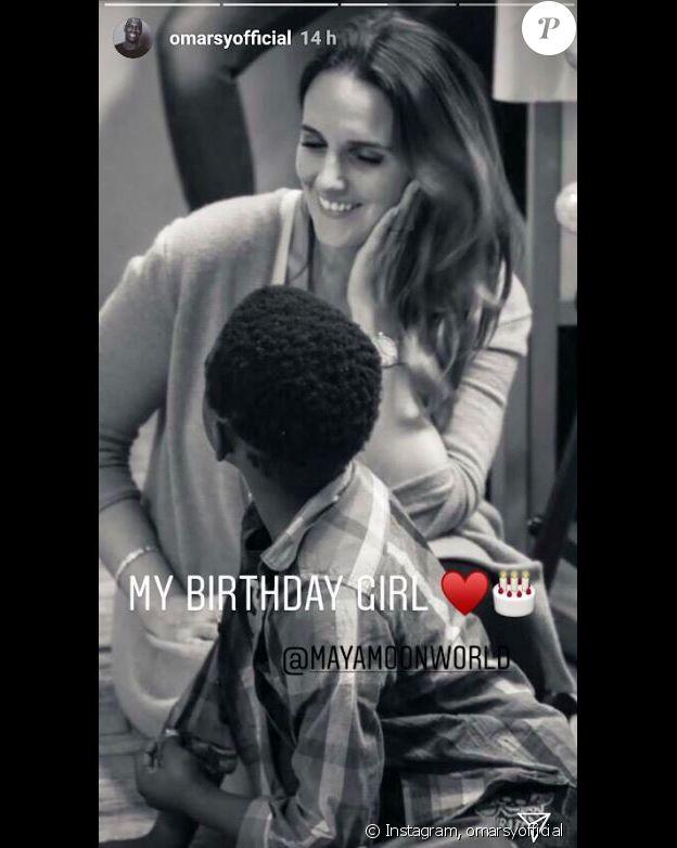 Omar Sy adresse un tendre message à sa femme Hélène pour son anniversaire sur Instagram le 6 octobre 2018.