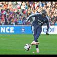 Mamadou Sakho lors de l'entraînement au Roudourou, à  Guingamp, le 10 octobre 2018.
