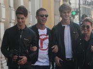 Rocco Siffredi : Sortie shopping avec ses deux fils canons !