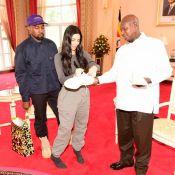 Kim Kardashian et Kanye West : Le couple gâte le président de l'Ouganda
