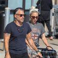 Lady Gaga et son compagnon Christian Carino sont allés faire des courses dans un supermarché de Malibu à Los Angeles, le 14 juillet 2018.